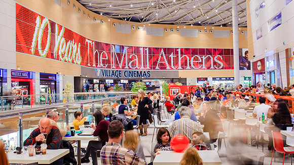 The Mall Athens celebrates 10th anniversary with longest greetings card mosaic world record