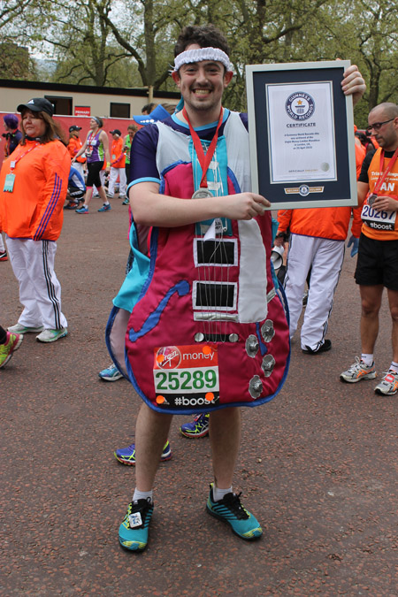 Fastest marathon dressed as a musical instrument