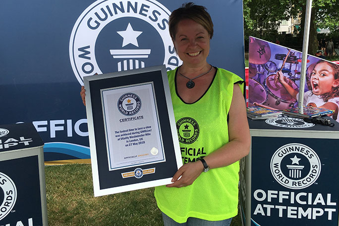 Jane with her Guinness World Records certificate
