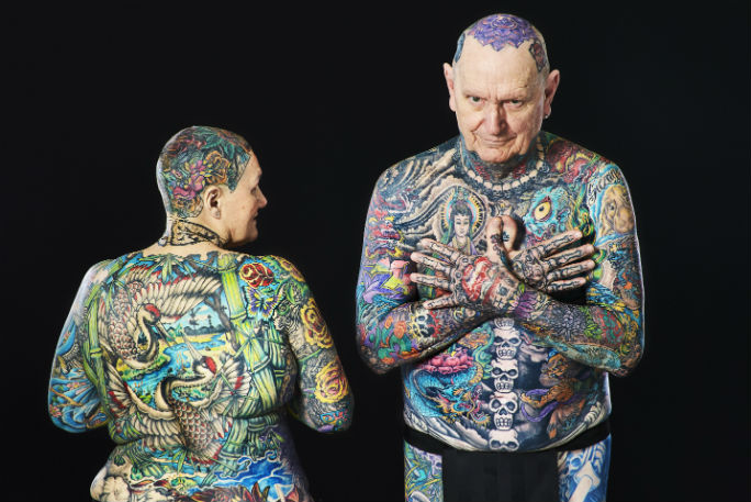 Most tattooed senior citizen 4