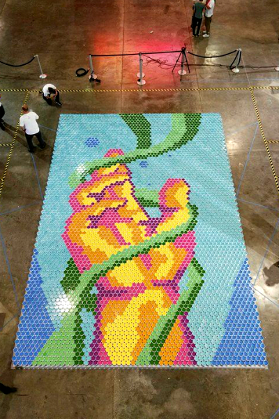 Largest paint can mosaic 9