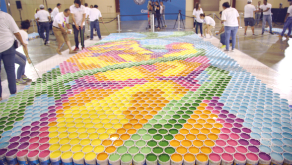 Largest paint can mosaic 6