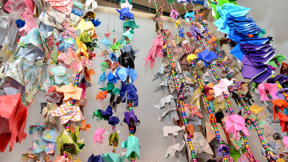 Largest display of origami elephants 3