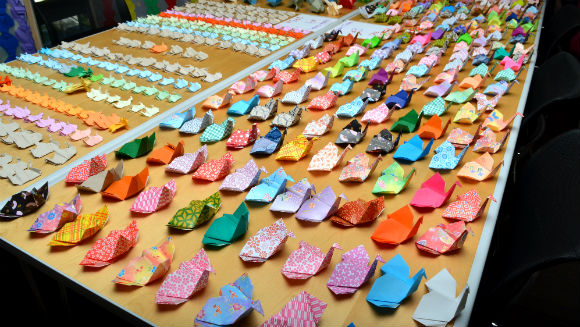 Largest display of origami elephants 5