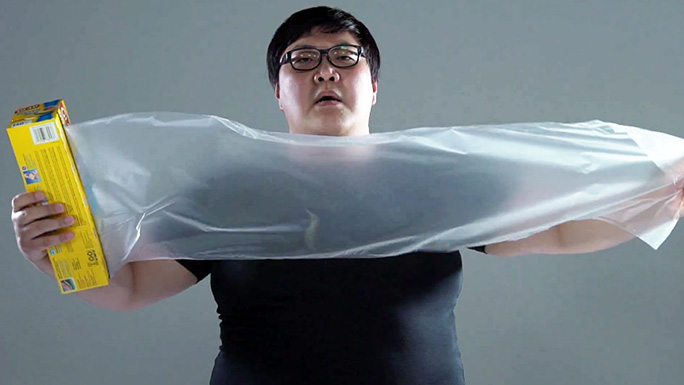 Fastest time to wrap a person in cling film preparation