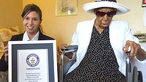 Happy 116th birthday to Susannah Mushatt Jones, our new oldest person record holder
