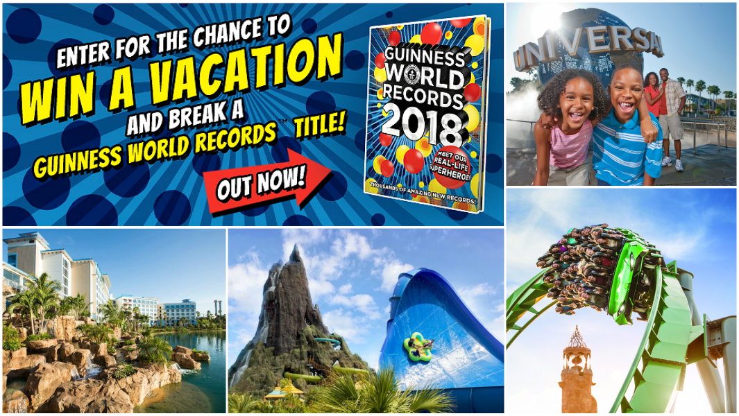 You Could Win a GWR Dream Vacation at Universal Orlando Resort