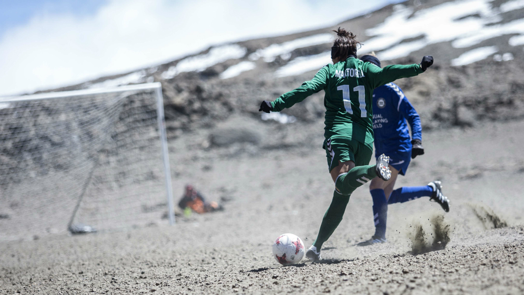 Monday Motivation: Female footballers come together to play a record high match on Kilimanjaro