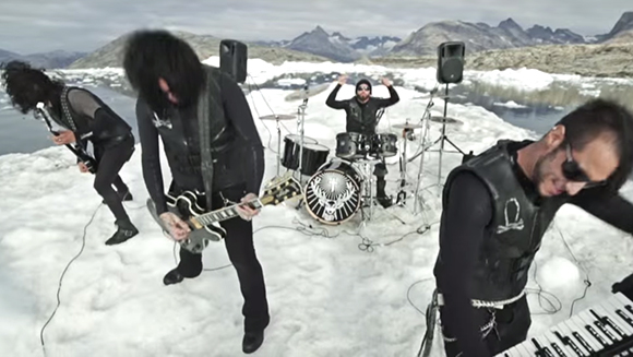 First gig on a floating iceberg: The Defiled rock an ice cold record triumph
