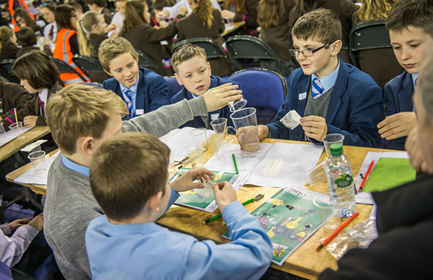 In pictures: Belfast primary school students take part in record breaking science lesson