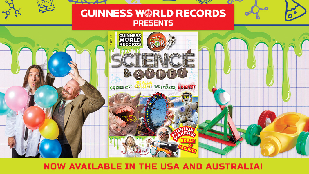 Discover the grossest and noisiest records in Guinness World Records: Science & Stuff