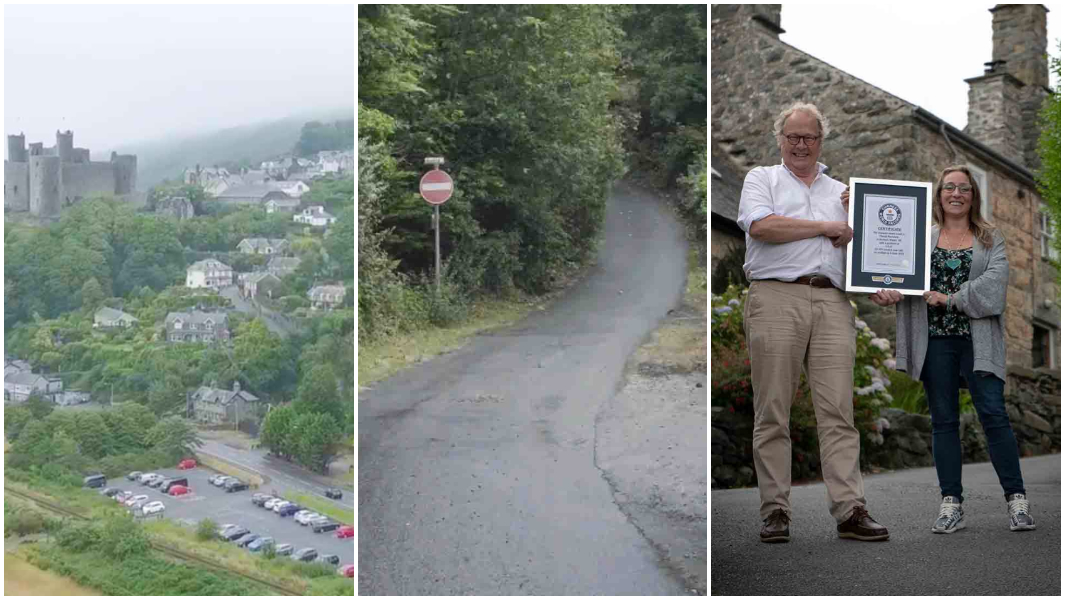 Welsh street is named steepest in the world