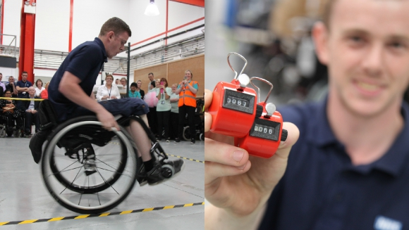 Spotlight: Most manual wheelchair spins in one minute