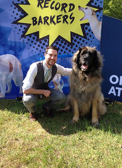 GWR Animals Editor Adam Millward hanging out with 'record-barker' Hagrid