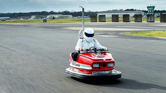 British engineer Colin Furze builds world's fastest bumper car for Top Gear