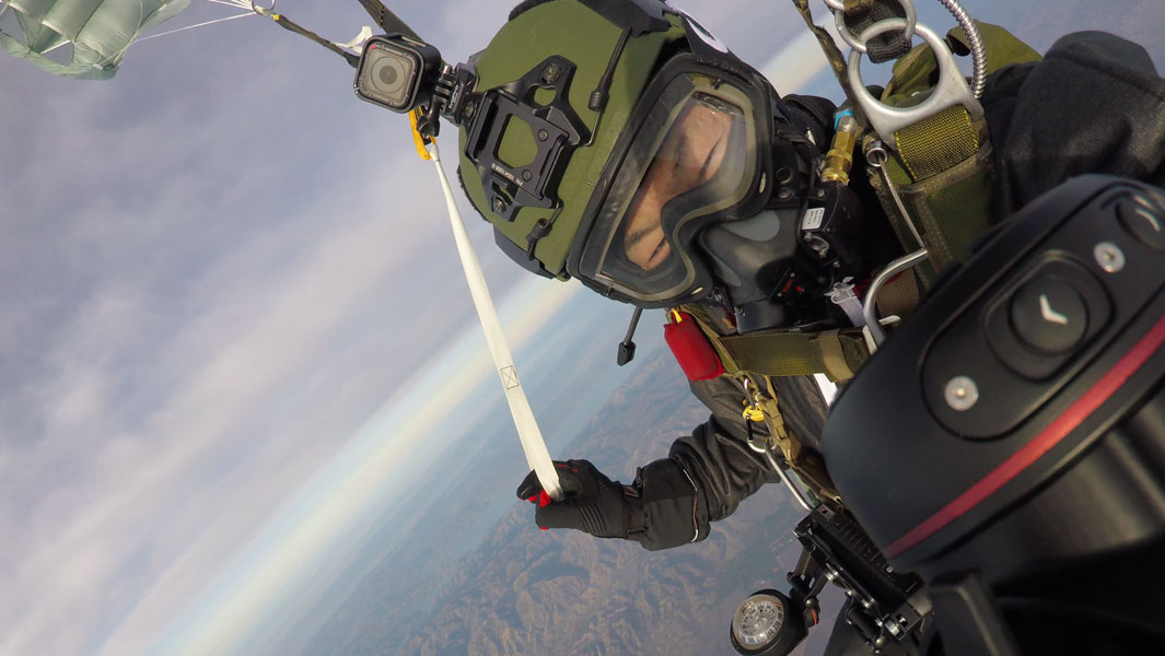 Greatest horizontal distance parachute flight achieved by Shinichi Ito
