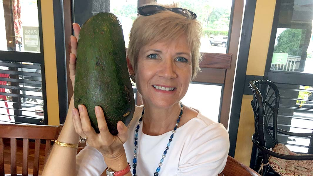 Hawaii resident claims world record after finding avocado the size of her head