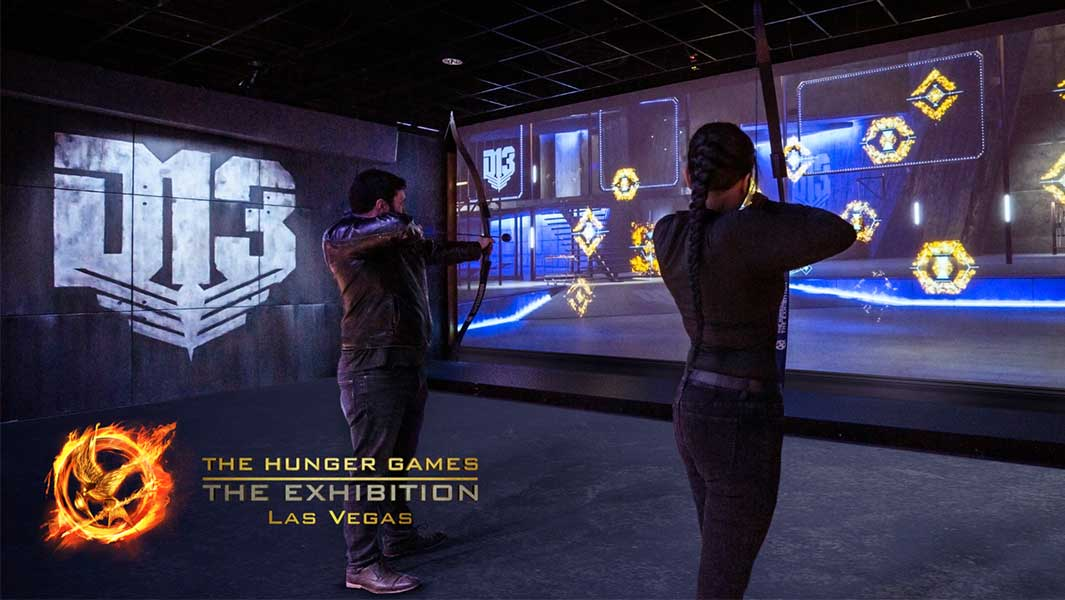 Largest interactive touchscreen at the Hunger Games Exhibition