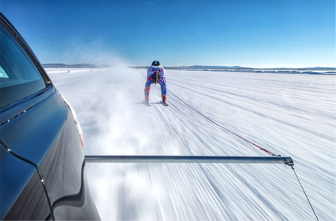 Fastest towed speed on skis record attempt