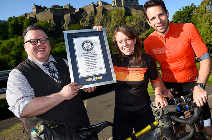 dd1deb7bbe6 Round-the-world cyclists meet to launch Guinness World Records Day ...
