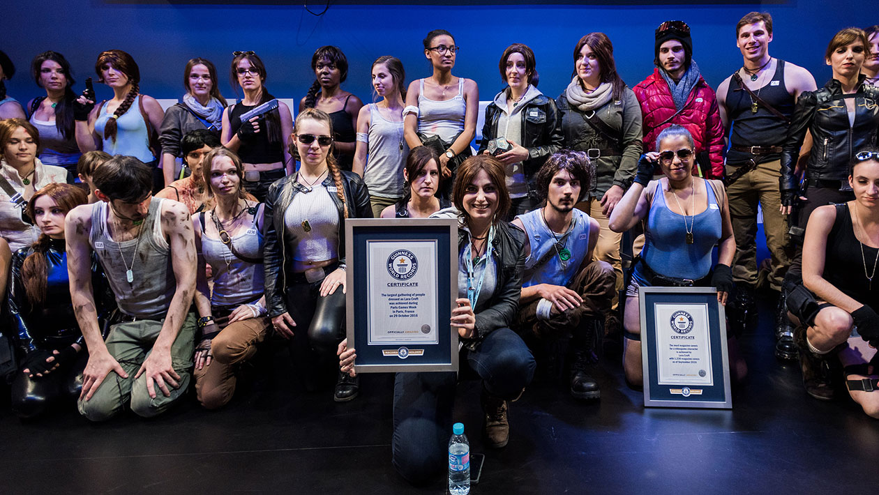Tomb Raider cosplay gathering sets world record as Lara Croft is honoured at Paris Games Week