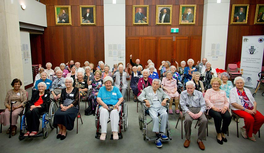 Largest gathering of centenarians