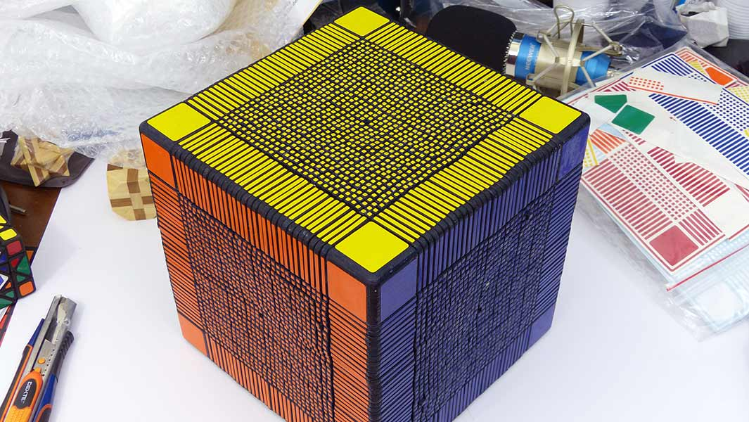 Video: Meet the designer who spent 205 hours making an enormous 33x33x33 Rubik's cube
