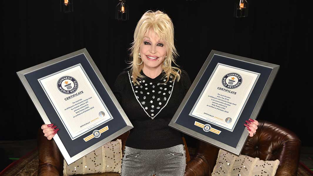 "Dolly Parton ""humbled and blessed"" as she receives certificates for her stellar career"