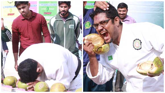 Video: Martial arts pro smashes coconuts with his head in fierce world record attempt