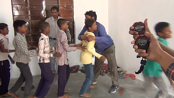 Video: Watch Indian man take on record challenge for most hugs given in a minute