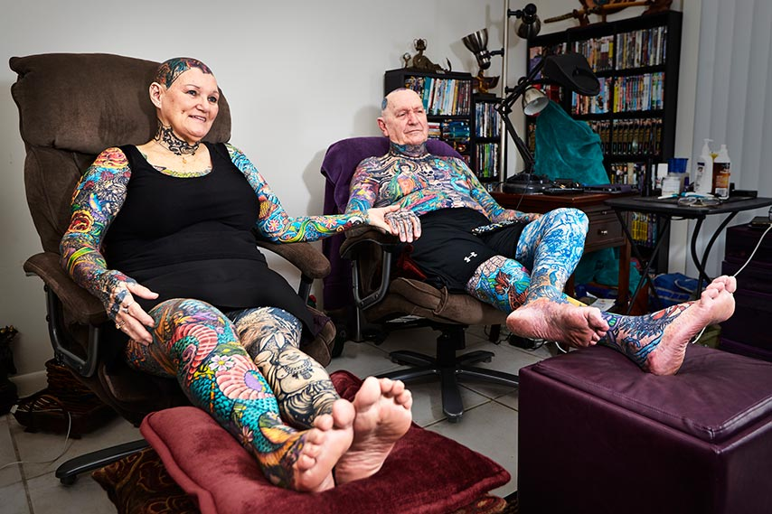 Most tattooed senior citizens
