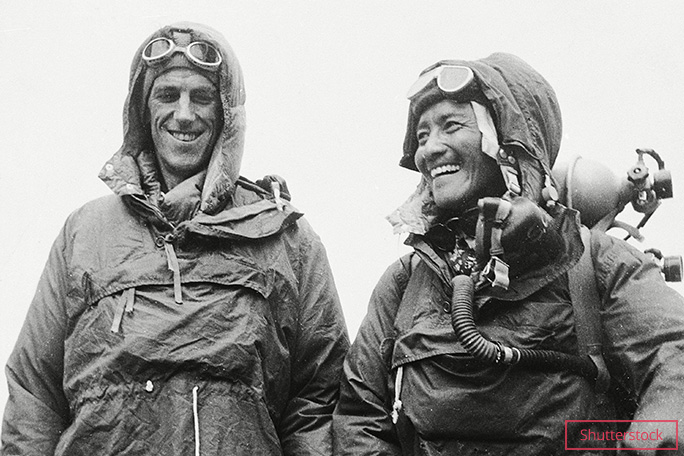 The first people to scale Everest were Edmund Hillary and Tenzing Norgay in 1953