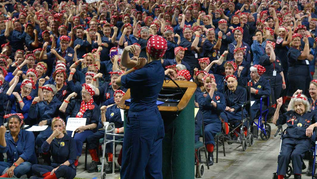 More than 3,500 people turn out for largest Rosie the Riveter gathering
