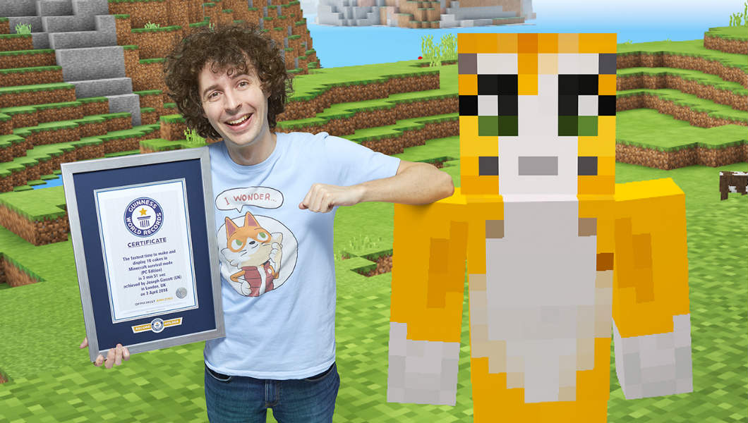 YouTube star Stampy Cat sets new Minecraft record for Gamer's