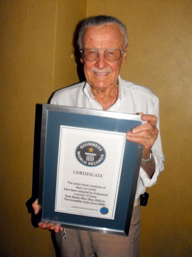 Stan Lee Guinness World Records certificate