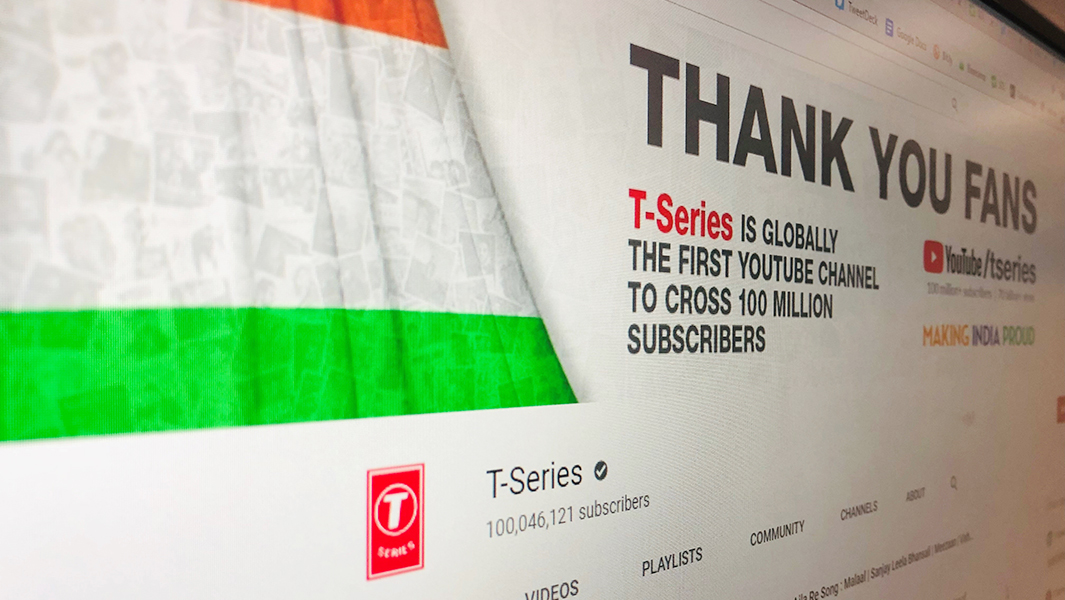 9963cd94c T-Series sets record for first YouTube channel to surpass 100 million  subscribers | Guinness World Records