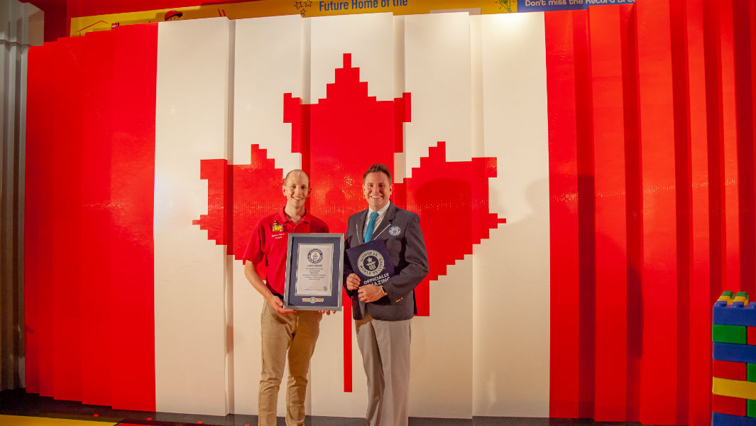 Legoland attraction constructs enormous Lego flag with more 240,000 bricks to celebrate Canada Day
