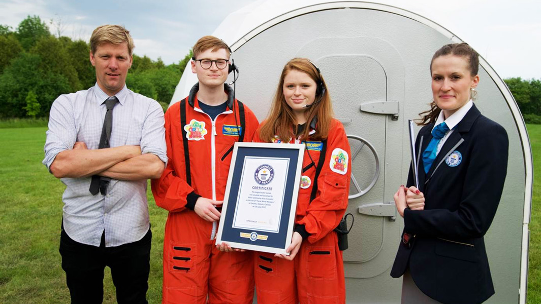 Inventor Colin Furze helps aspiring astronaut siblings build a record-breaking rocket