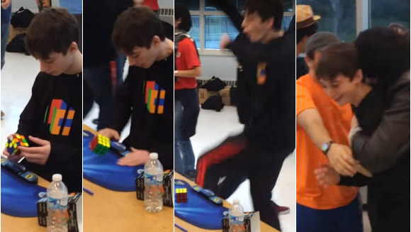 Confirmed: Teenager Lucas Etter sets new fastest time to solve a Rubik's Cube world record - watch video