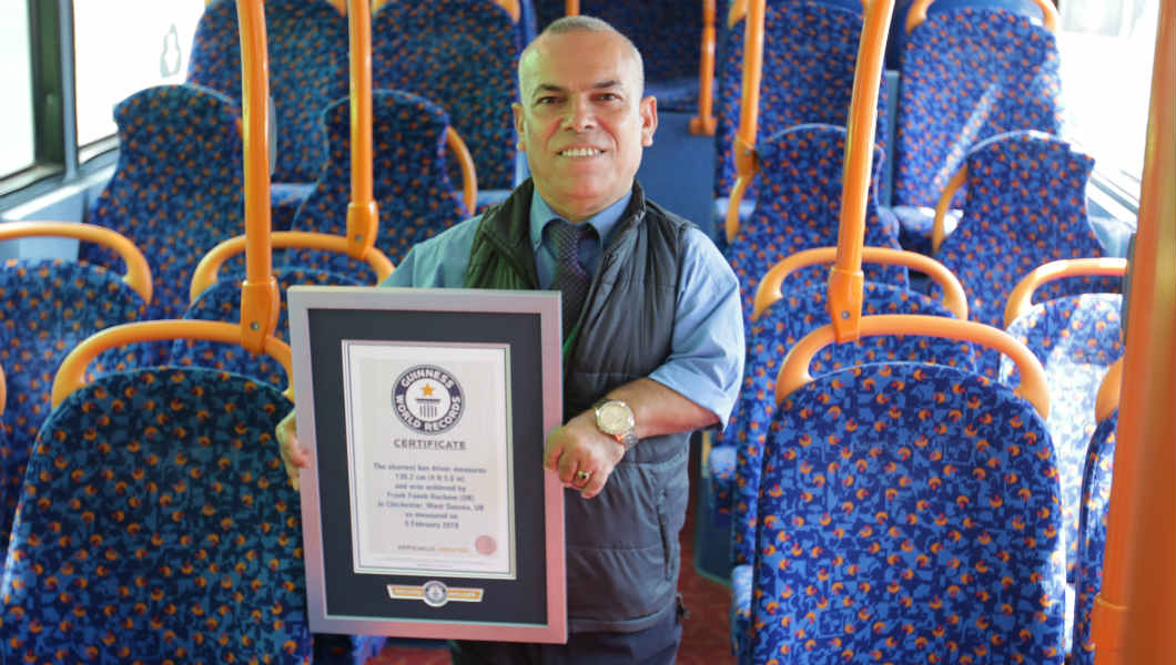 Video: Shortest bus driver's aim to inspire others to 'not give up' after achieving record
