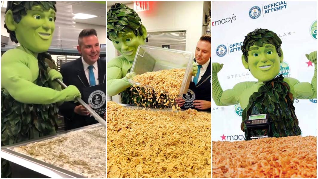 Green Giant has made the world's largest serving of green been casserole