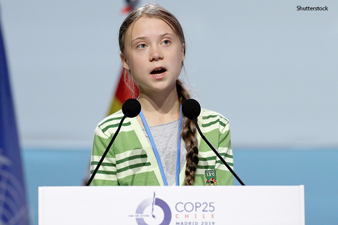 Thunberg speaking at the UN's COP25 climate change conference in Madrid, Spain last week (having been relocated from Santiago, Chile, due to ongoing civil unrest)