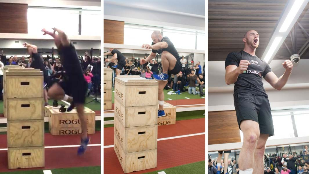 Video: Man jumps up more than 4 ft from standing start on