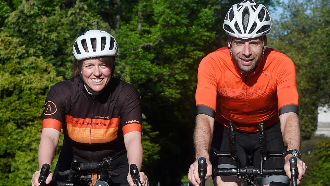 Jenny Graham and Mark Beaumont compare their round-the-world bike rides