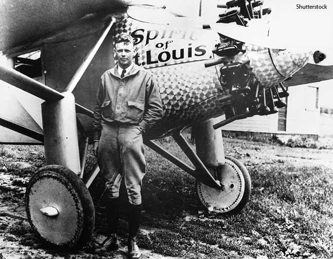Record-breaking American aviator Charles Lindbergh became the first person to be named Time Man of the Year in 1927