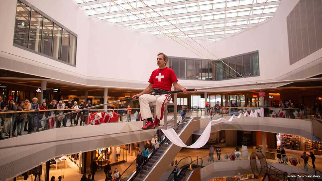 Daredevil spends eight hours sat balancing on a chair on a
