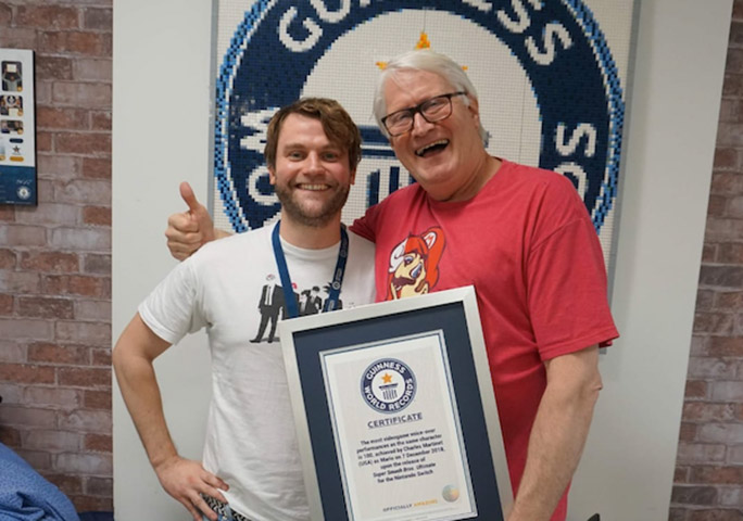 A very happy Luke meets a very happy Charles at GWR HQ, where he was awarded an official certificate for his voiceover record