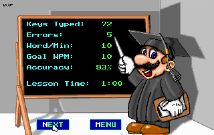 Charles first voiced Mario in the CD ROM version of Mario Teaches Typing (1994)