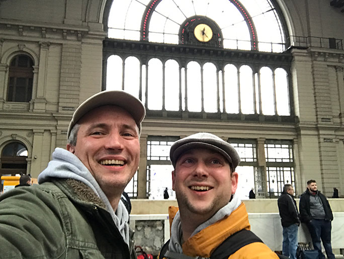 Journey's end at Budapest Keleti station