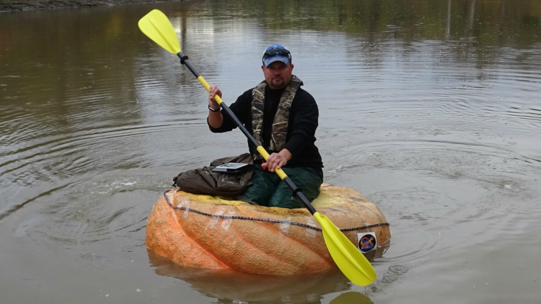 Longest journey by pumpkin boat